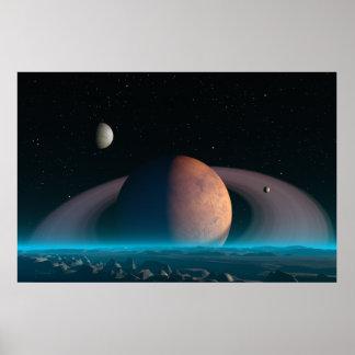 Tombée de la nuit tranquille - copie de l'espace affiches