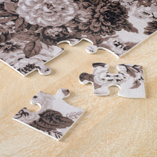 Ton Brown Toile floral No.3 de sépia Puzzle