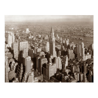 Ton vintage New York de sépia Carte Postale