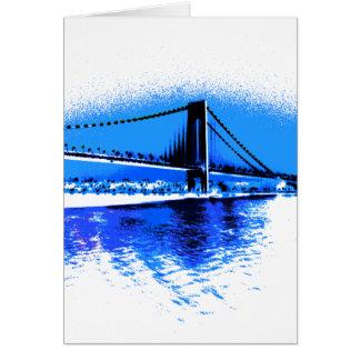 Tonalités de carte de pont de bleus
