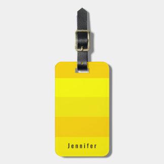 Tonalités jaune citron lumineuses personnelles étiquette à bagage