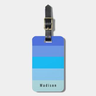 Tonalités personnelles Editable de l'eau bleue de Étiquette À Bagage