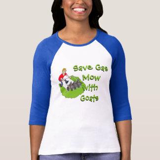 Tondeuse à gazon drôle - chèvres t-shirt