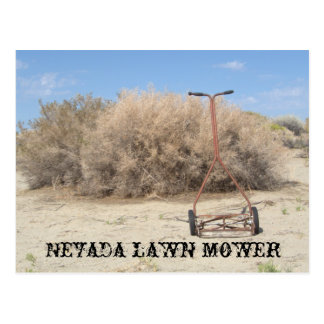 Tondeuse à gazon du Nevada Cartes Postales