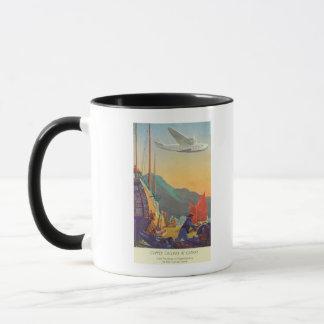 Tondeuse Casserole-Américaine volant au-dessus de Mug