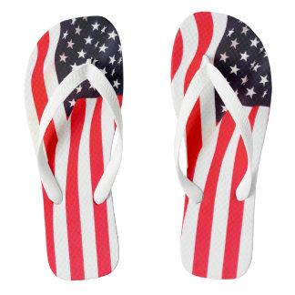 Tongs Adulte de drapeau américain, secousses larges de