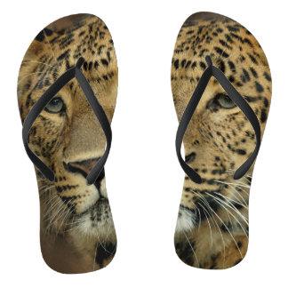 Tongs Amant d'empreinte de léopard