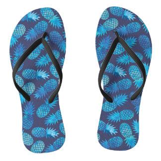 Tongs Ananas bleus de colorant de cravate