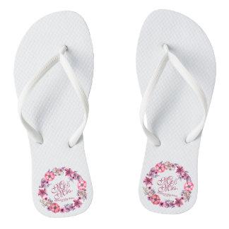 Tongs Bascules électroniques de M. et de Mme Pink Floral