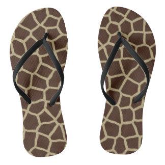 Tongs Bascules électroniques d'impression de girafe