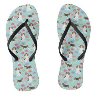 Tongs Chaussures de beignet de beagle