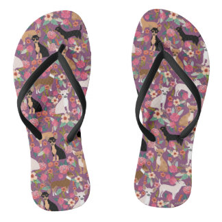 Tongs Chaussures florales de chiwawa - chiwawa floral