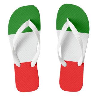 Tongs Conception de Tricolore de drapeau de l'Italie