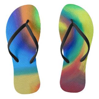 Tongs couleur le pied