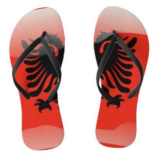 Tongs Drapeau brillant albanais