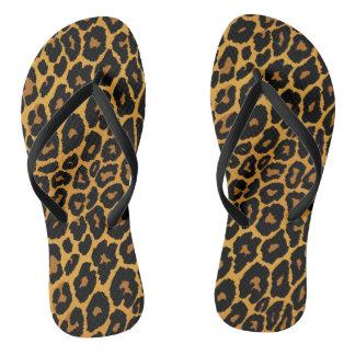 Tongs Empreinte de léopard avec de l'or de gradient