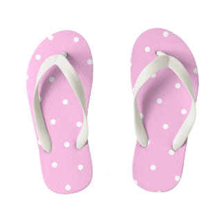 Tongs Enfants Le point de polka rose badine des bascules