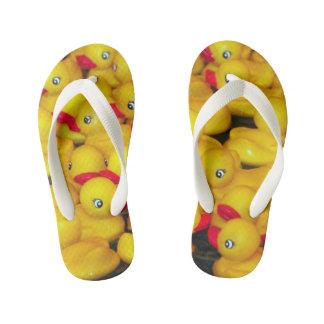 Tongs Enfants Motif en caoutchouc jaune mignon de duckies
