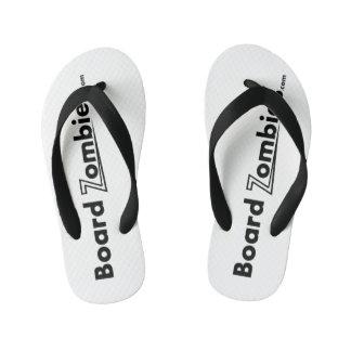 Tongs Enfants Usage blanc de pied de noir de bascule
