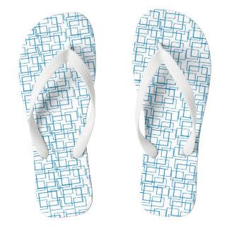Tongs Été blanc bleu de réflexion de l'eau de piscine