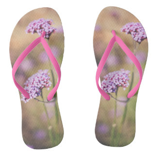 Tongs Fleurs sauvages roses