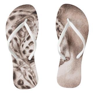 Tongs Jaguar dans l'art chaud de sépia
