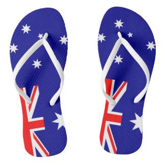 Tongs Lanières australiennes de drapeau de Straya