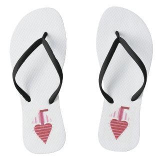 Tongs Les sandales des femmes de bateau de Loveheart