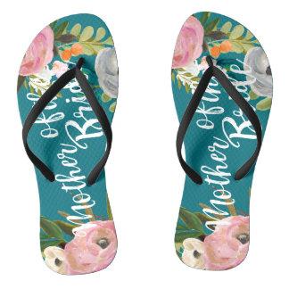 Tongs Mère florale peinte de fleurs des sandales de