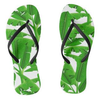 Tongs Palmiers tropicaux verts