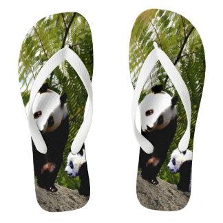 Tongs Panda de maman et de bébé,