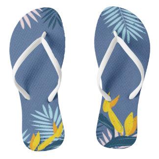 Tongs Paradis tropical bleu moderne
