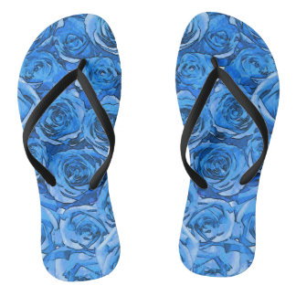 Tongs Roses de turquoise