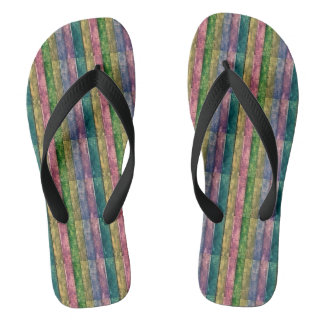 Tongs Sandales de bain - du bois multicolore