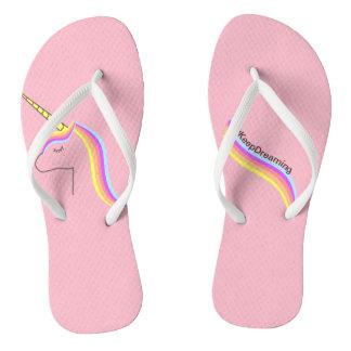 Tongs Savates Santals flips flops unicorn