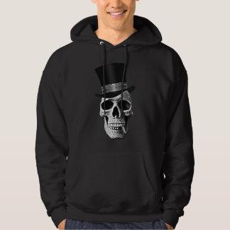 Top hat skull sweat à capuche