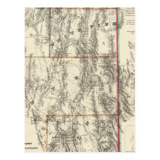 Topographie du Nevada du sud Carte Postale