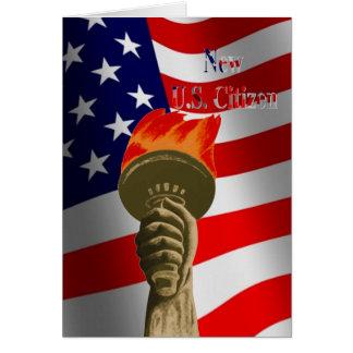 Torche de nouvelle carte de citoyen des États-Unis