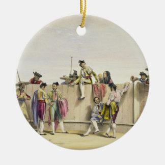 Toreros reposant entre les taureaux, 1865 (couleur ornement rond en céramique
