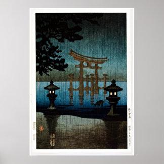 Tores et scène Ukiyo-e de lac Posters