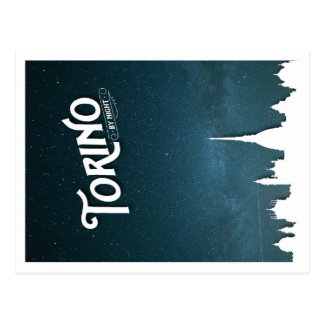 Torino par nuit - carte postale