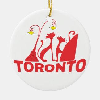 Toronto 1 ornement rond en céramique
