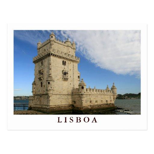 """Torre De carte postale de Belem, Lisbonne"""