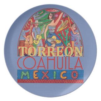 TORREON Mexique Assiette