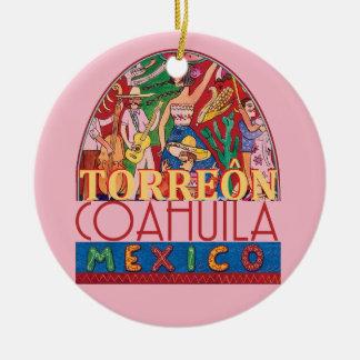 TORREON Mexique Ornement Rond En Céramique