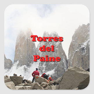 Torres del Paine : Le Chili Sticker Carré