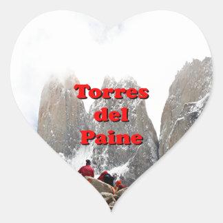 Torres del Paine : Le Chili Sticker Cœur