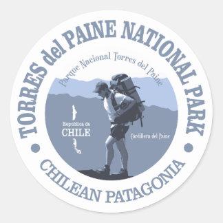 Torres del Paine NP Sticker Rond
