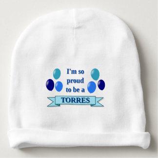 TORRES (nom de famille) - bannière bleue, ballons Bonnet De Bébé