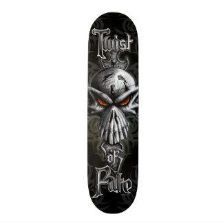 Torsion de planche à roulettes de crâne de destin mini skateboard 18,4 cm